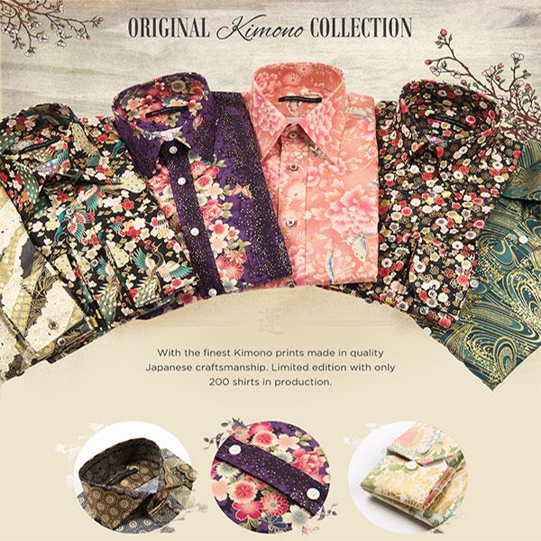 Design your own kimono print dress shirt original stitch for Original stitch shirt review